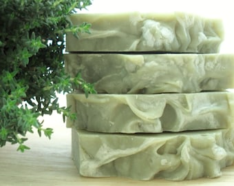 Tea Tree & Thyme Soap with French Green Clay, Palm Oil-free Skincare