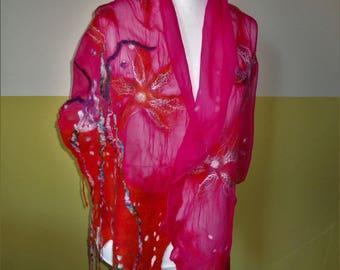 Silk shawl, silk scarf, Nunotuch, cloth, Filzstola,