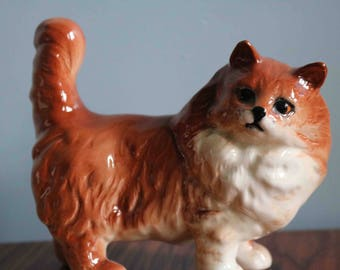 Large Beswick Ginger Persian Cat model no. 1898  In very good condition