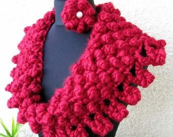 Crochet Cowl PATTERN, Chunky Scarf Pattern, Circle Scarf, Christmas DIY Crochet Gift, Instant Download, PDF Pattern #72, Lyubava Crochet