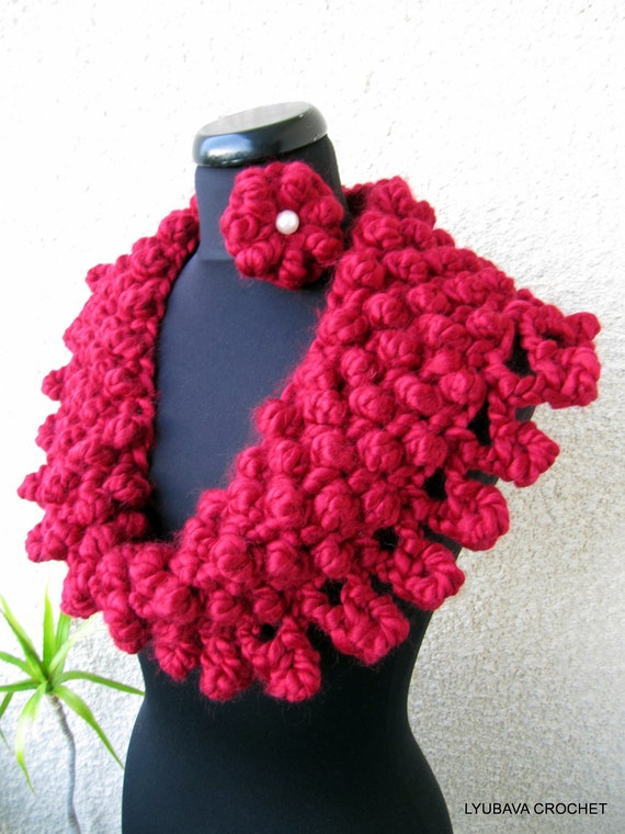 Crochet Cowl Pattern Chunky Scarf Pattern Circle Scarf