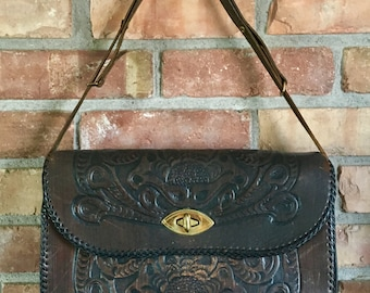 Vintage Joo-Kay Hand Tooled Leather Purse