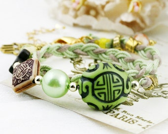 Longevity - double wrap braided bracelet