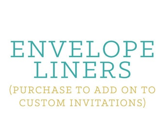 Envelope Liners (add-on for LoveLight Paper custom invitations only)