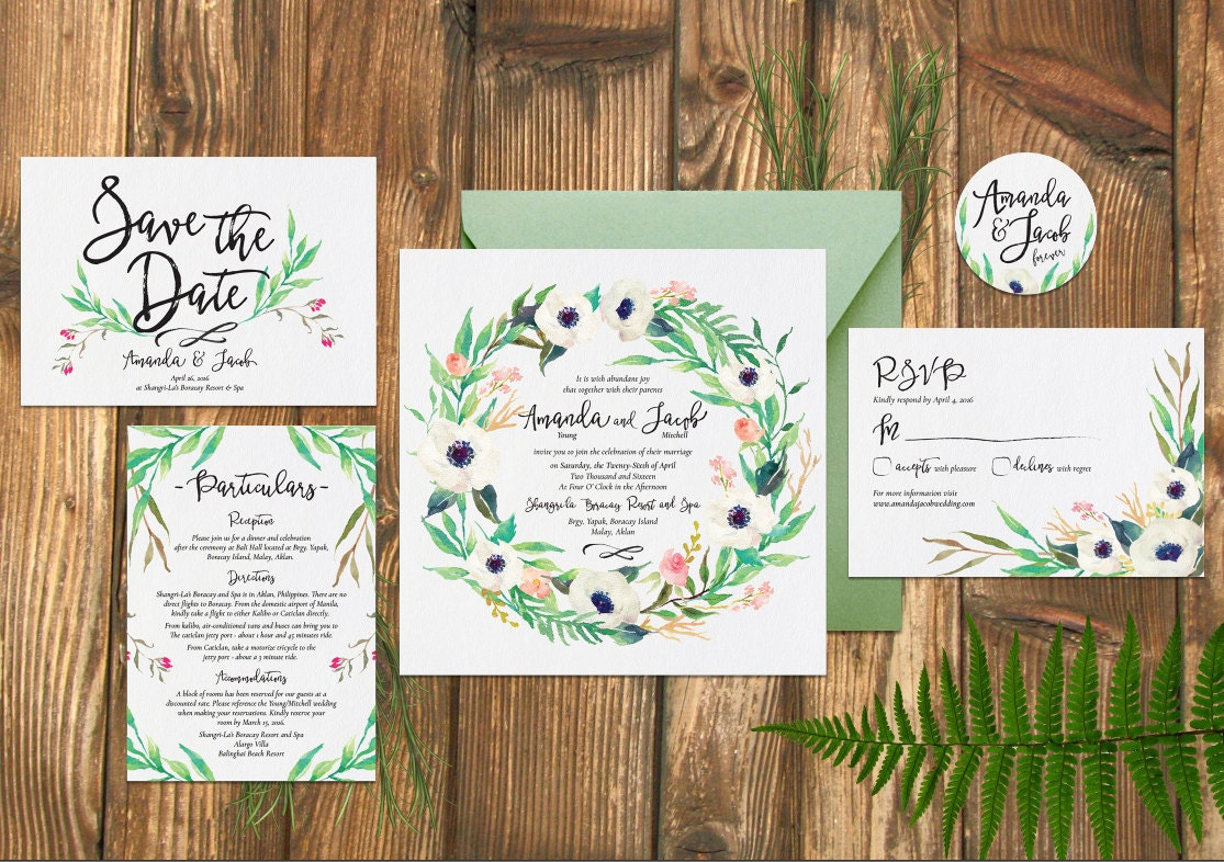 wedding rustic whimsical wedding invitation watercolor 40