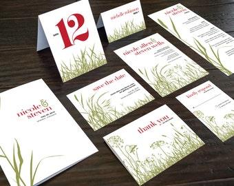 Printable Wedding Invitation Suite - Gardens