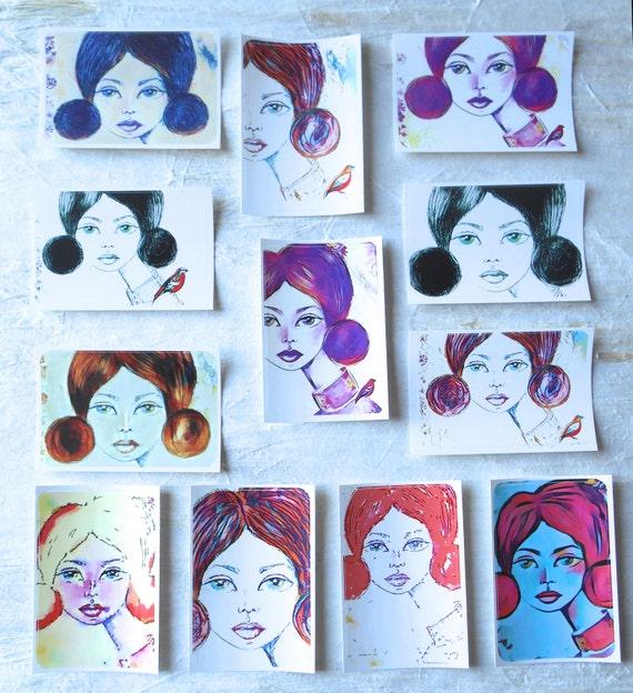 Elise - Large Fine Art Stickers