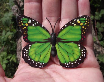 1 BUTTERFLY DECORATION, REFRIGERATOR DECOR. GREEN MAGNETIC MULTI COLOR. 1, 7 X 5, 1 cm. NO. 4