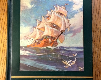 """1963 My Book House """"Flying Sails"""" Gulliver Travels, Talking Bird and More Hardback Book"""