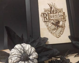 Ravenclaw Harry Potter Wood Burning Pyrography Art