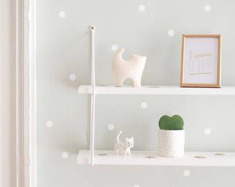 Aufkleber - Weiße Tupfen - Plank Wand Dekoration