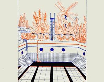 Orange Swimming Pool