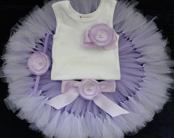 Lavender Birthday Dress | Lavender Tutu | Purple 1st Birthday Tutu | Cake Smash Tutu