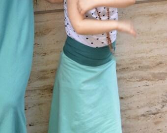 children's organic skirt/dress - Plumitas skirt dress for little ones - kids size convertible skirt with roll over waist