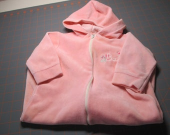 Vintage Set of Two - Hooded Gown AND Pink Terrycloth Sleeper