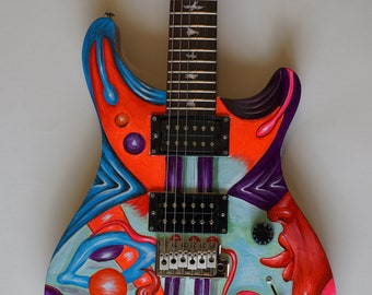 Hand painted PRS guitar