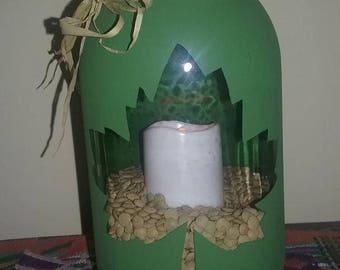 Leaf Tealight Lantern