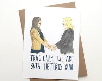 Parks and Rec Card// Leslie & Ann Bff