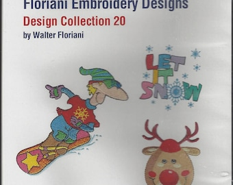 Floriani Embroidery Design Collection, Machine Embroidery Designs, Embroidery Designs, 4 Collections, Machine Embroidery