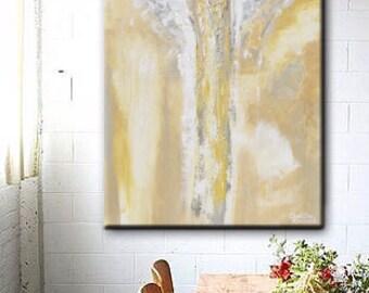 GICLEE PRINT Art Abstract Angel Painting Oil Painting Home Decor Christmas Gift Wall Decor Angel Wings Gold Grey Spiritual Art- Christine
