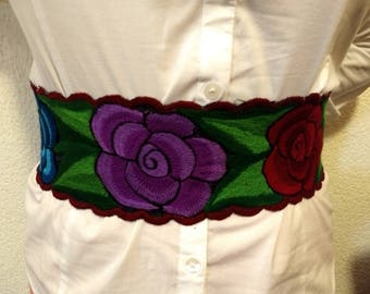 Mexican embroidery belt