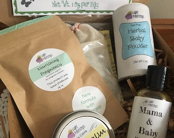 New Mama Mix - Deluxe Gift Box for Pregnant Natural Mamas! New Baby, Postpartum, Pregnancy, or Baby Shower Gift