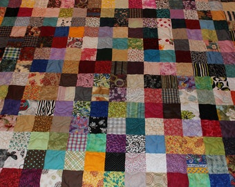 50% DEPOSIT - Full Size Quilts -  Scrappy Patchwork Quilt - Full Size Quilt - DEPOSIT Only