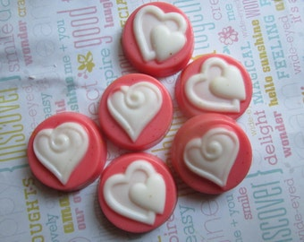 Scented Wax Melts - 5 Swirly Heart Round Shape Candle Melt - Wax Melt Warmer -4oz
