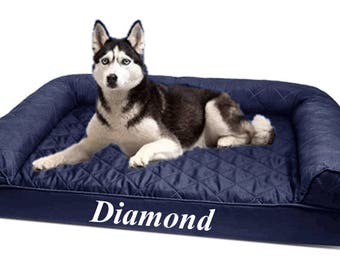 SALE - Navy beds on sale! Personalized dog sofa / Large dog bed / Extra large dog bed / Jumbo dog bed / Small dog bed /Custom dog bed