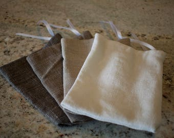 Set of 5 Assorted Drawstring Bags