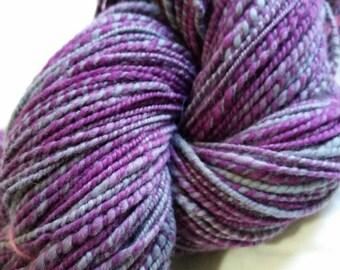 Handspun Yarn: Purple Mist