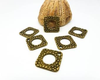 10 charms ethnic Rhombus 22.5 * 22.5 mm bronze (USBB05)