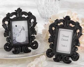 Black Baroque Frame Place Card Holders-Set of 6