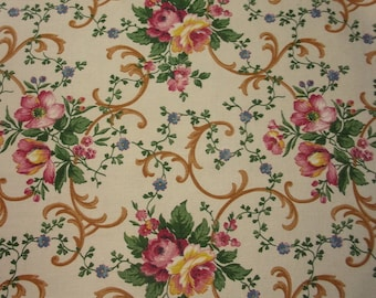 Old fabric, pretty flowers, roses, Mia / / / *.