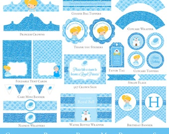 Cinderella Party Mini Set - Cinderella Party Printables - Cinderella Birthday - Girl Birthday - INVITATION NOT INCLUDED