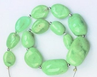 11 inch long strand smooth Aquamarine AGATE nugget beads 6*8*11 --13*19*31 mm