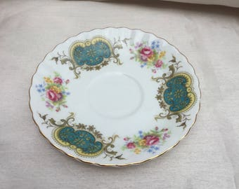 Vintage 1940s Bone China Royal Albert Saucer Made by Berkeley Pottery England