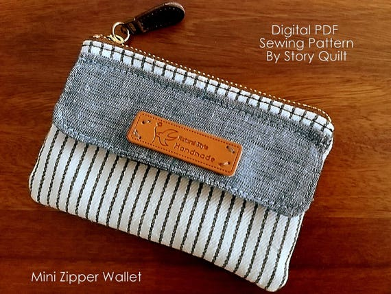 Quick and easy bag pattern purse sewing pattern wallet