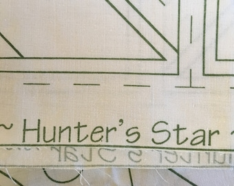 Craft Foundation Fabric Panel for 16 Blocks for a Hunter's Star Quilt. 100% Cotton Fabric Foundation Fabric.