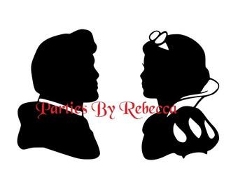 Disney Princess SVG Silhouette