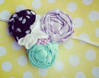 M2M Matilda Jane Good Hart fabric flower headband