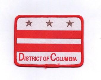 Vintage District of Columbia Washington (DC) - Biker Flag Patch