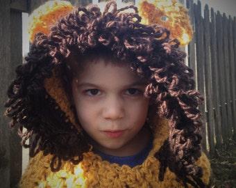 Lion Hood Hat Halloween Costume