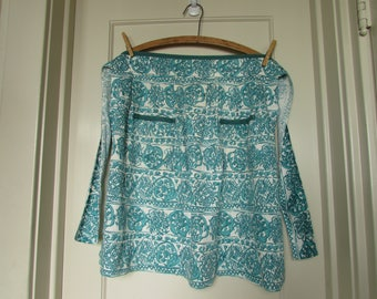 1950s Teal and White Apron