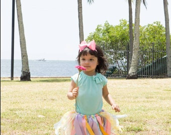 Little Girl Fabric / Ribbon Tutu for all occasions.