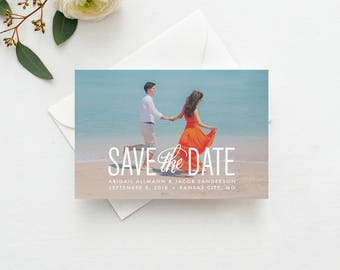 Simply Stated Photo Save the Date Template Printable INSTANT DOWNLOAD- Save the Date Template, Save the Date Digital File, Save the Date DIY