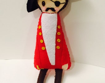 Pirate Plushie. Softie. Felt Doll.