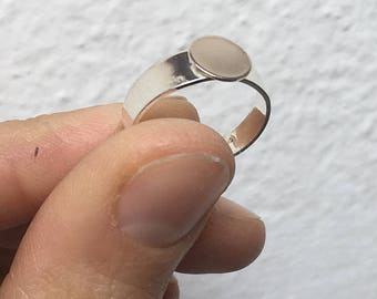 5 Base Adjustable Ring Silver/base for DIY ring/Meteriale for DIY jewelry.