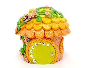 Tooth Fairy Home: Key Lime and Tangerine Ombre Citrus Cottage