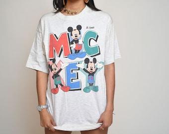 Rare Mickey Mouse coloré St Louis Disney chemise par Sherry Mtg